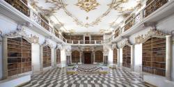 Abbazia Agostiniana di Novacella, biblioteca storica. Foto Hugo Wassermann