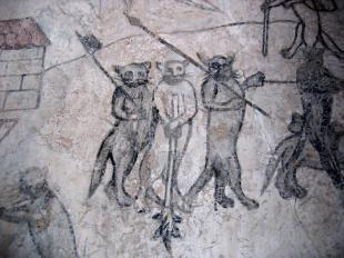 Museum Schloss Moos-Schulthaus, gotische Wandmalerei