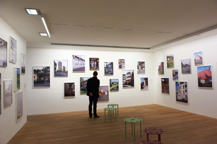 "Kunst Meran Merano Arte. Ausstellung: ""Italomodern 1+ 2: Architektur in Oberitalien 1946 – 1976"", 2016. Foto: Herbert Thoma"