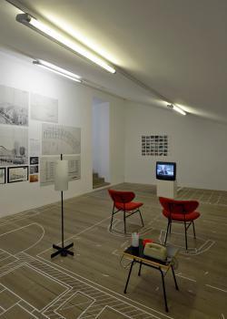 """Kunst Meran Merano Arte, Mostra """"Armando Ronca.  Architektur der Moderne in Südtirol 1935-1970"""", 2017, Foto: Werner Feiersinger"""