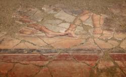 Roemische Freske, Details. Foto Abteilung Museen