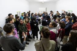 Inaugurazione mostra di Lorenzo Pezzani © ar/ge kunst, Foto Tiberio Sorvillo, 2019