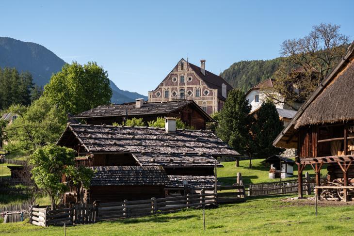 Südtiroler Volkskunde museum mit Freigelände. Foto Gerd Eder